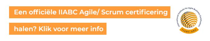 Agile of scrum certificering haal je via iiabc